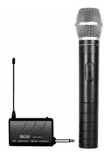 Microfone Sem Fio Wireless Csr 2010 Vhf P/ Câmera Filmagem