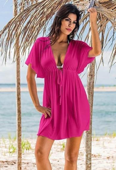 Vestido Saída De Praia Piscina Moda Feminina Viscolycla