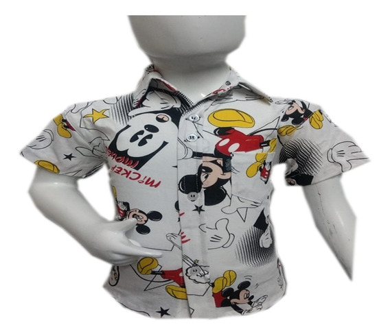 Camisa Niño Fresca Vestir Poliesteralgodon Moda Manga Corta