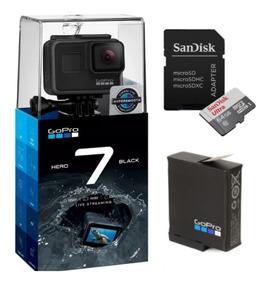 Câmera Digital Gopro Hero 7 Black 4k+ Cartão 64gb + Bateria
