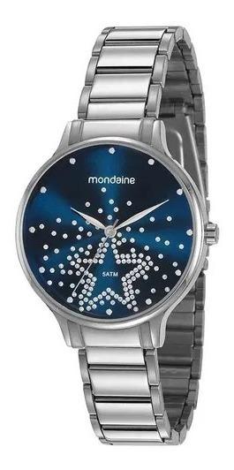 Relógio Mondaine Com Caixa E Pulseira Em Prata