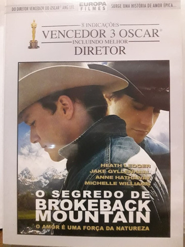 Imagem 1 de 4 de Dvd - O Segredo De Brokeback Mountain - Heath Ledger