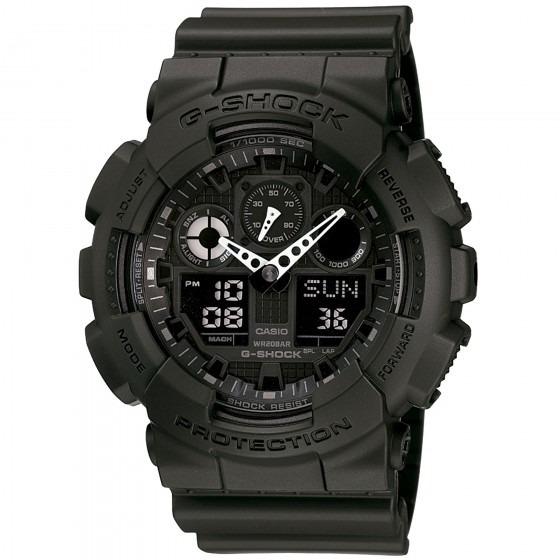 Relógio Casio Ga-100-1a1dr Masculino Preto - Refinado