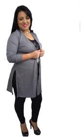 Blusa Cardigan Plus Size Comprida Roupas Femininas Frio