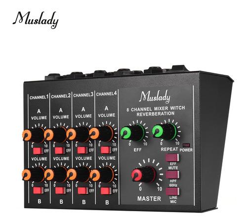 Muslady M-228a - Audio Mono/estéreo Compacto De 8 Canales