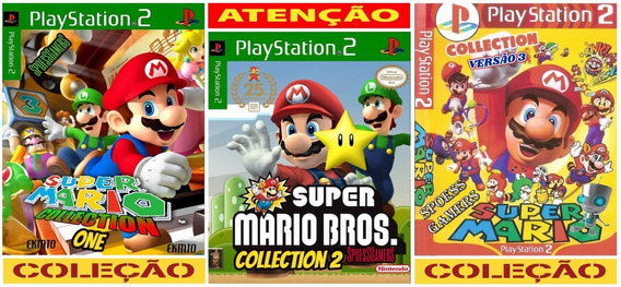 Super Mario Bross Collection 1, 2 E 3 (3 Jogos) Ps2 Patch