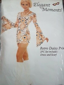 Disfras Elegant Moments Retro Disco Daisy Print