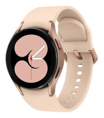 """Imagen 1 de 4 de Samsung Galaxy Watch4 (Bluetooth) 1.2"""" caja 40mm de  aluminio  pink gold malla  pink gold de  fluoroelastómero SM-R860"""