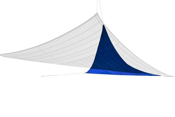 Toldo Triangular Tipo Vela Arenath 3 X 3mts Portatil Azul