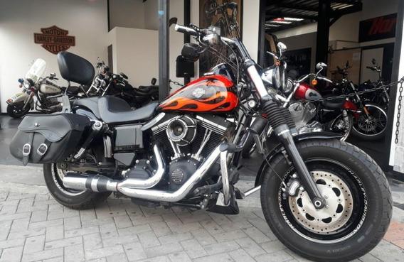 Harley-davidson Dyna Fat Bob 2014 Juguetiada Y Perfecta!