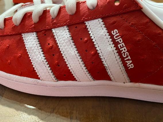 adidas Originals Superstar Red Roja Blanco Traidas De Usa