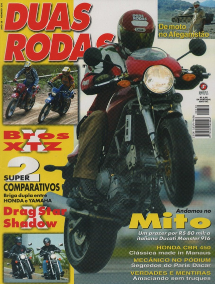 Duas Rodas N°330 Ducati Monster 916 Nxr Bros Xtz Drag Star