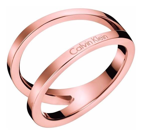 Anillo Calvin Klein Outline Kj6vpr100106 Rosa