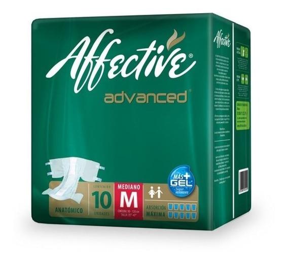 Pañales Adulto Affective Advanced Mediano 10 Piezas