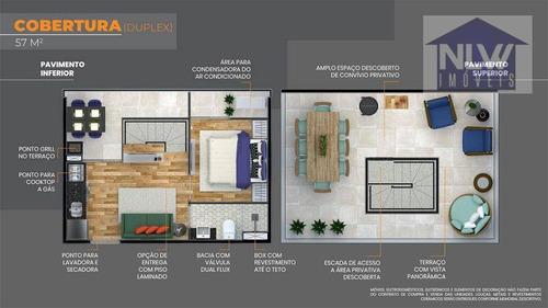 Cobertura Com 1 Dormitório À Venda, 60 M² Por R$ 378.000,00 - São Miguel Paulista - São Paulo/sp - Co0026