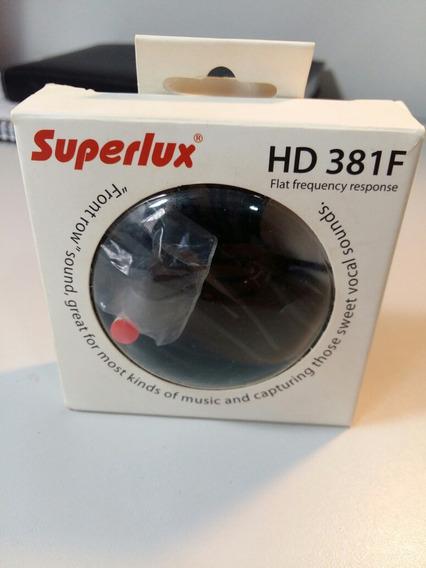 Fone De Ouvido In-ear Superlux Hd 381f Branco