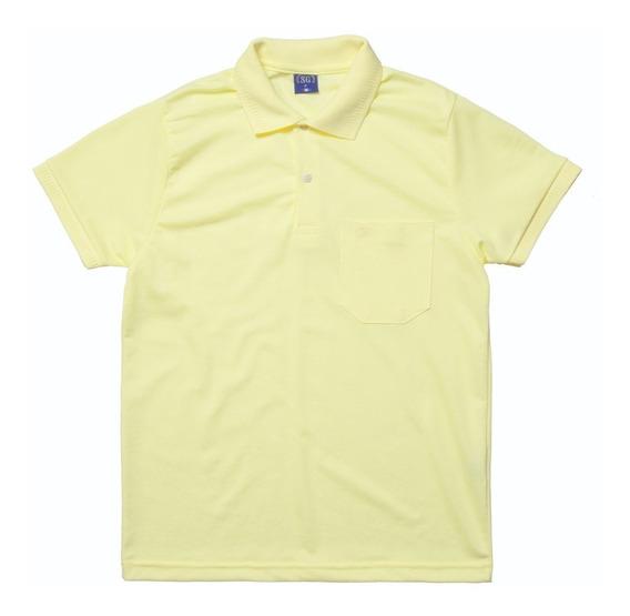 Camisa Pólo Masculina Manga Curta Sem Bolso - Ref. 8847