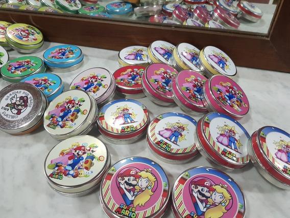 Mario Bros Latas Souvenir Mario Bros X25