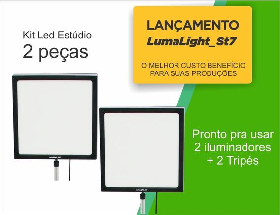 Super Kit Iluminação Painel Led Estúdio Luz Contínua