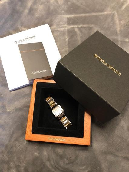 Relógio Baume & Mercier Em Aço, Ouro Amarelo E Diamantes.
