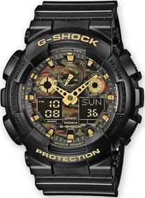 Relógio Casio G-shock Ga-100cf-1a9dr Camuflado Miltar