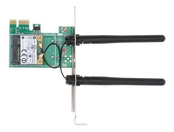 Placa Pci-e X1 Wifi Wireless P/ Desktop Com 2 Antenas
