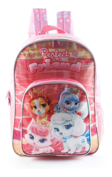 Mochila Espalda Grande Disney Princesa Palace Pets Mundoteam