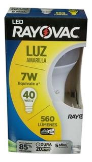 Lámpara Luz Led Foco Rayovac Luz Cálida Amarilla 7w = 40w