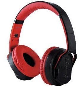 Headphone 2 Em 1 Caixa De Som E Fone De Ouvido - Vermelho