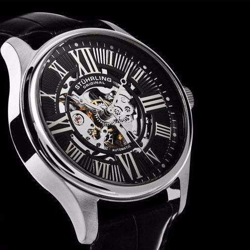 Relógio Stuhrling Atrium Automático Skeleton - Semi Novo
