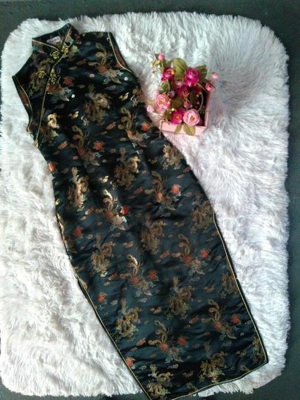 Vestido Oriental Japonês Moda Feminina Fantasia Mulher.