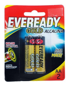 Pilha Eveready Gold Aa2 Alcalina Caixa C/ 12 Unid 24 Pilhas