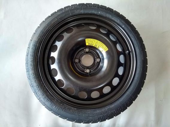 Pneu + Roda Estepe Fino Nissan March Versa 115/70 Aro 16
