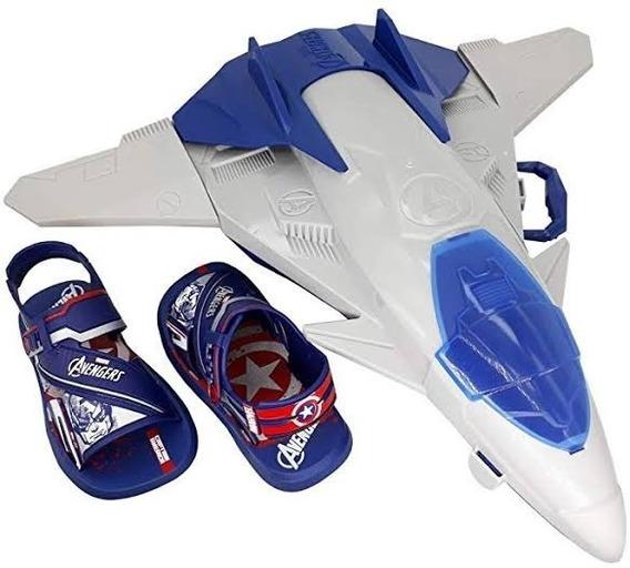Sandália Papete Infantil Capitão América Avião Homem Aranha