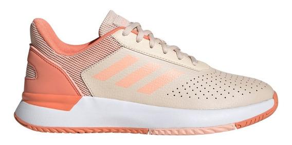 Zapatillas adidas Courtsmash Tenis Coral De Mujer