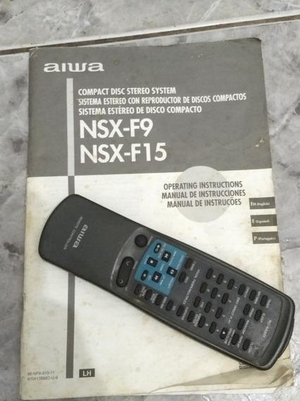 Manual E Controle Som Aiwa Nsx - F9 Nsx - F15