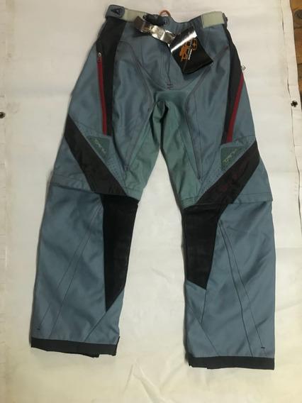 Pantalon Enduro No Fear Niño Celeste. Panella Motos