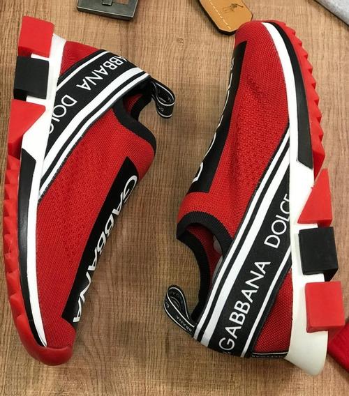 Tênis Dolce & Gabbana Unissex Frete Grátis Tenis Vermelho