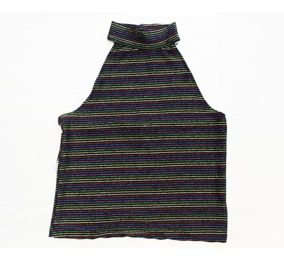 Musculosa Top Con Hilos De Colores Viscosa (9865)