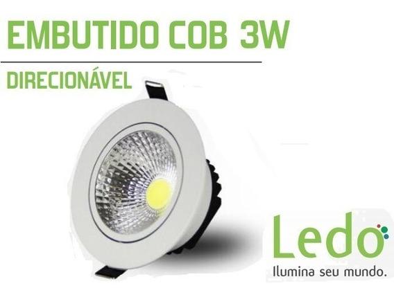 Kit 15 Luminaria Spot Redondo Led 3w Branco Frio
