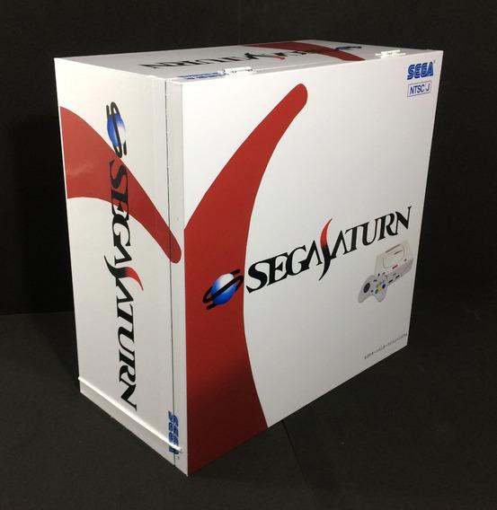 Caixa Vazia Sega Saturno Japones Em Madeira Mdf