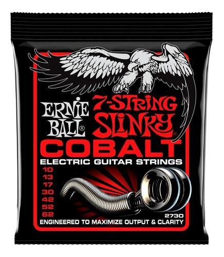 Imagem 1 de 4 de Encordoamento Ernie Ball Regular Slinky 7-string Cobalt 2730