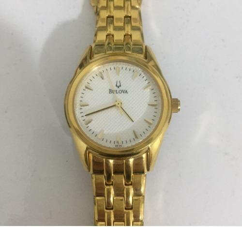 Relógio Bulova C93511 Dourado Original Seminovo