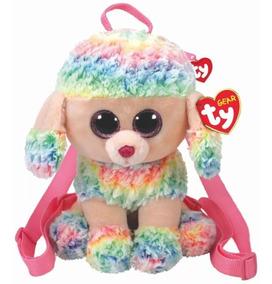 Mochila De Pelúcia Ty Gear Poodle Rainbow - Original