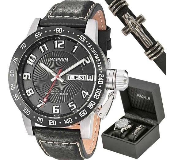 Relógio Magnum Kit Masculino Com Pulseira Ma33139c