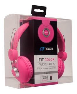 Auriculares Noga Fit Color Manos Libres C/ Mic Pc Smartphone