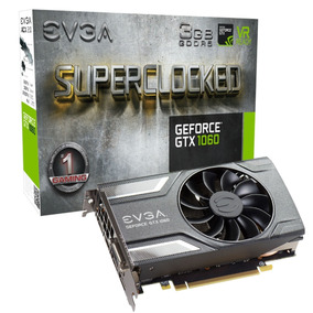 Placa De Video Evga Geforce Gtx 1060 3gb Gddr5 Sc 192-bit