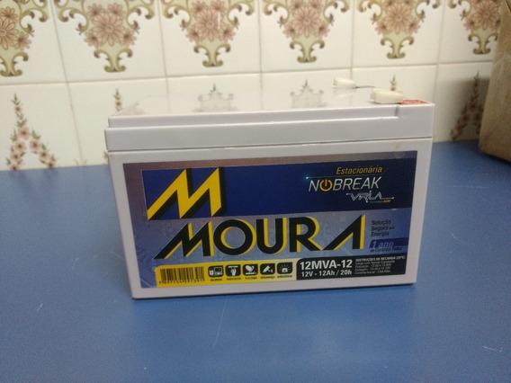 Bateria Estacionária Moura 12v 12ah 12mva-12 Vrla Nova