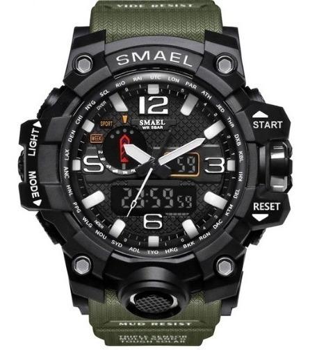 Relógio Masculino Militar Sport Digital E Analógico Smael