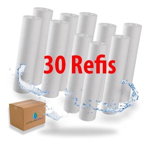 30 Filtros Refil Cartucho Liso De Polipropileno 10 X 2 1/2